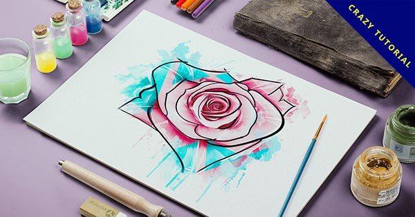 【玫瑰花繪畫】19個細膩的玫瑰花水彩素描作品範本推薦