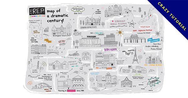 【手繪地圖】19款精細的手繪地圖的設計作品推薦