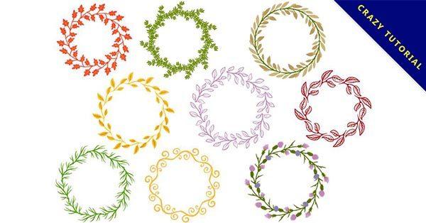 【花圈手繪】28款精緻的花圈手繪素材下載,優秀圖案推薦