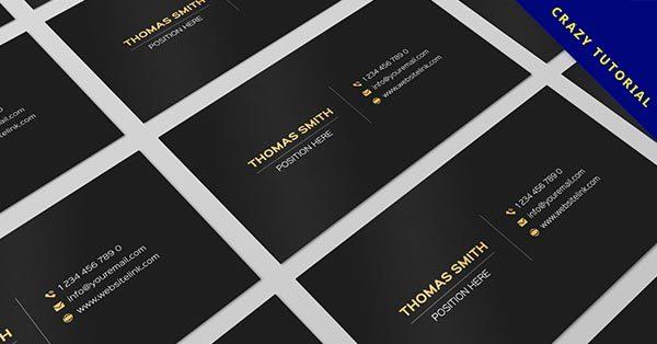 【黑色名片】29個有設計感黑色名片的作品圖片推薦