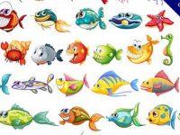 【魚插畫】31個可愛的魚插畫下載,精美插圖推薦