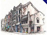 【街景速寫】32張細緻的風景速寫素描作品欣賞推薦