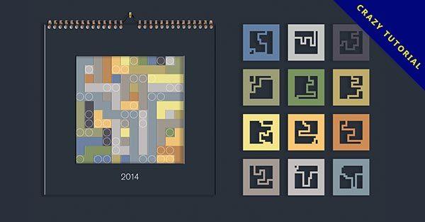 【月曆設計】36張極美月曆設計的作品圖示推薦