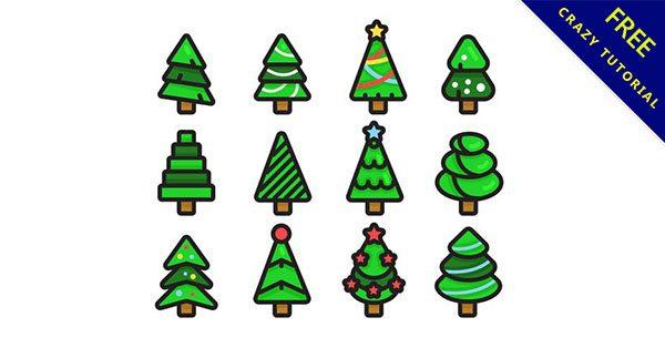 【聖誕樹q版】素材推薦:15套可愛的q版聖誕樹下載