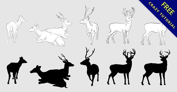 【麋鹿剪影】乾貨推薦:10套高品質的麋鹿剪影下載