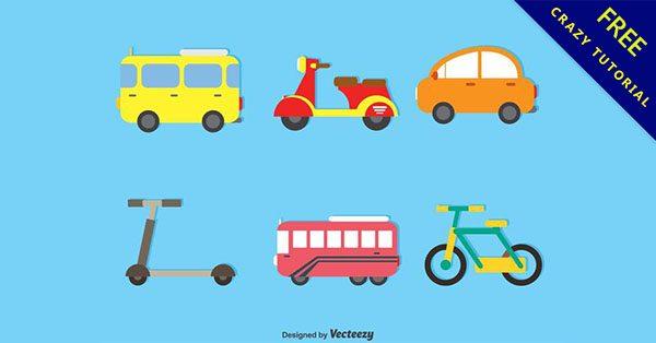 【交通工具圖案】精選24款卡通的交通工具素材下載