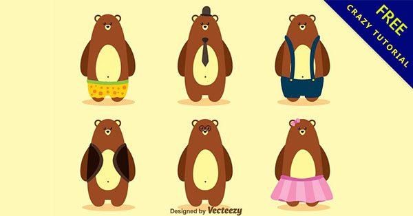 【卡通熊】精華推薦:14款可愛的熊卡通下載