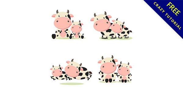 【可愛牛圖案】19款卡通的可愛牛圖片下載