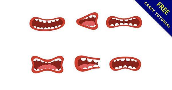【嘴巴圖案】24套可愛的嘴巴素材下載