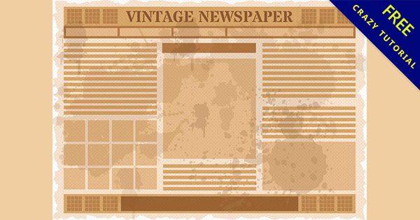 【報紙素材】實用推薦:16套高質量的舊報紙素材下載