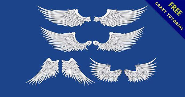 【天使翅膀圖案】免費乾貨!16個神聖的天使翅膀圖騰下載