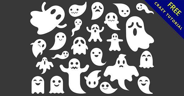 【幽靈圖案】萬聖節推薦:25套可愛的幽靈卡通下載