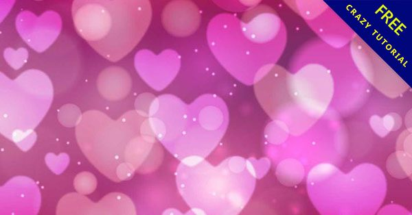 【愛心背景圖】情人節必使用的22套可愛的愛心背景下載