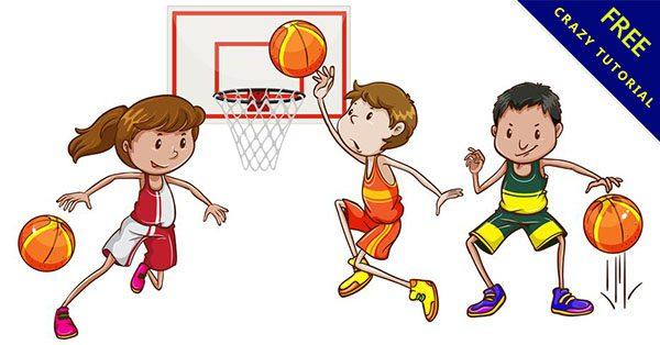 【打籃球卡通】素材推薦:24個可愛的卡通打籃球下載