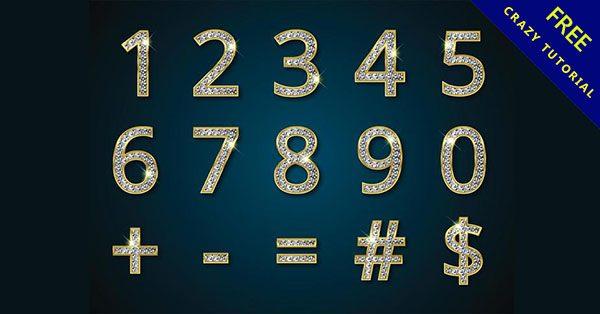 【數字設計】24款可愛的數字設計圖下載
