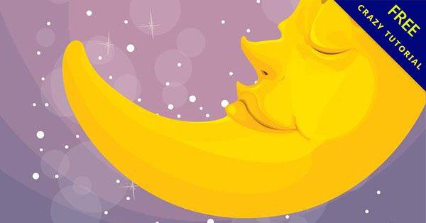 【月亮卡通】小編推薦:16套有可愛的卡通月亮下載