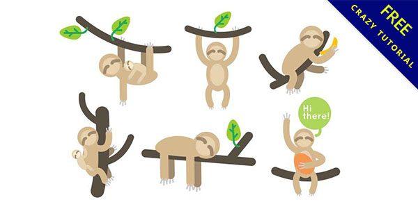【樹懶卡通】20個可愛的卡通樹懶圖下載