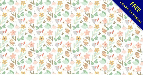【碎花背景】創作時必使用的18款高質量的背景碎花下載