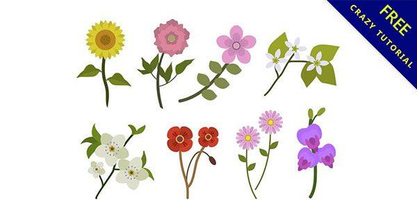 【花朵素材】花朵推薦:20款可愛的卡通花朵圖下載
