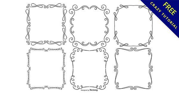 【花邊框手繪】精選20套有設計感的手繪花邊框下載