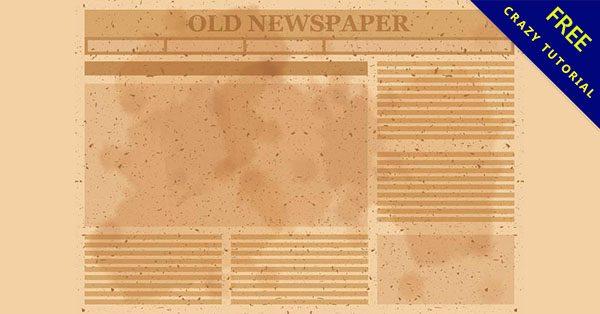 【英文報紙素材】編輯推薦:14個有復古的英文報紙素材下載