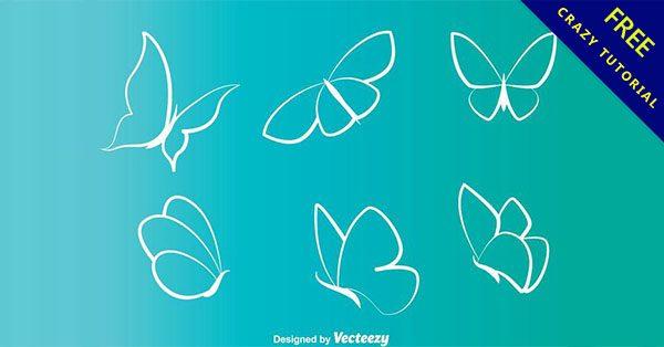 【蝴蝶圖騰】佛心推薦:12套有設計感的蝴蝶圖騰下載
