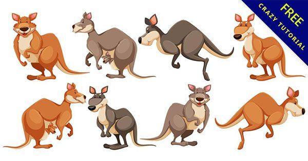 【袋鼠卡通】9個可愛的卡通袋鼠下載