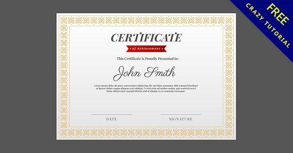【證書設計】38個頒獎用的證書設計模板下載