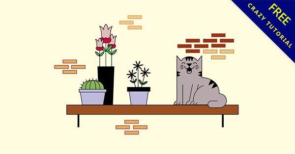 【貓咪q圖】美編必備的20套可愛的q圖貓咪下載