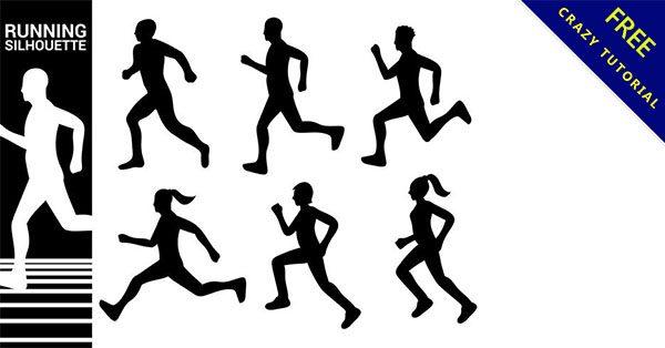 【跑步剪影】16套人物的剪影跑步下載