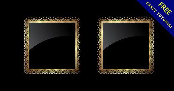 【金色邊框】嚴選推薦:21個華麗的金色邊框下載