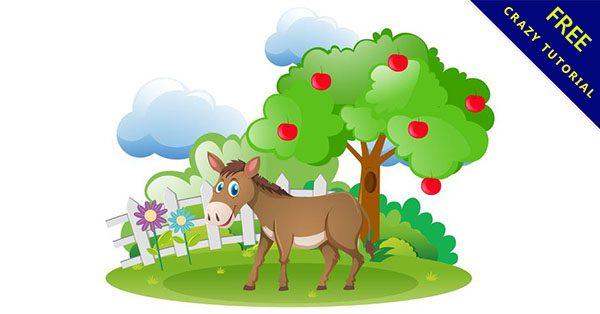 【驢子卡通】素材推薦:14款可愛的卡通驢子下載