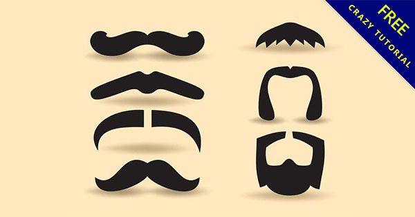 【鬍子圖案】紳士推薦:18張男生的鬍子素材下載