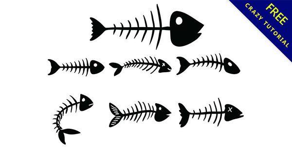 【魚骨頭圖】嚴選23個可愛的魚骨頭圖案下載