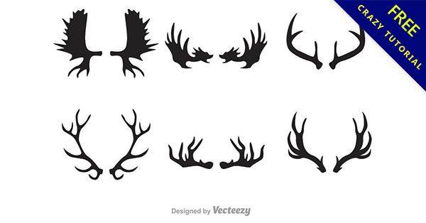【鹿角圖案】免費乾貨!13張有設計感的鹿角圖騰下載