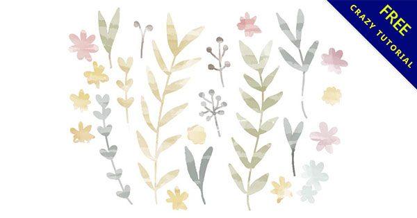 【葉子水彩】嚴選推薦:12款手繪的水彩葉子下載