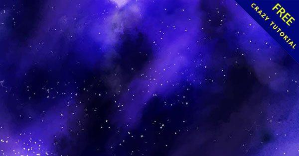 【星空水彩】嚴選推薦:23張精品的水彩星空背景下載