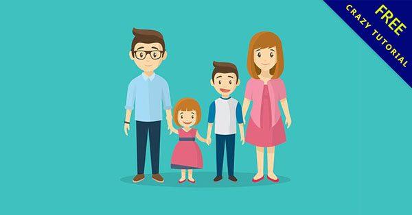 【家人圖案】小編推薦的13個卡通家人圖案下載