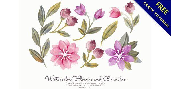 【水彩花卉素材】小編推薦:28張可愛的水彩花卉素材下載
