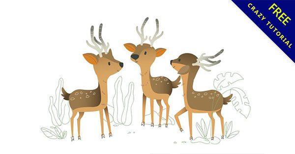 【梅花鹿卡通】必須收藏的14張可愛的卡通梅花鹿下載