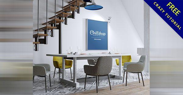 【展示模板】商業空間的作品展示模板,照片海報都可以展示