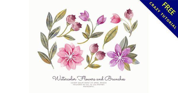 【水墨花】美編人員都在找的26個細緻的水墨花朵下載