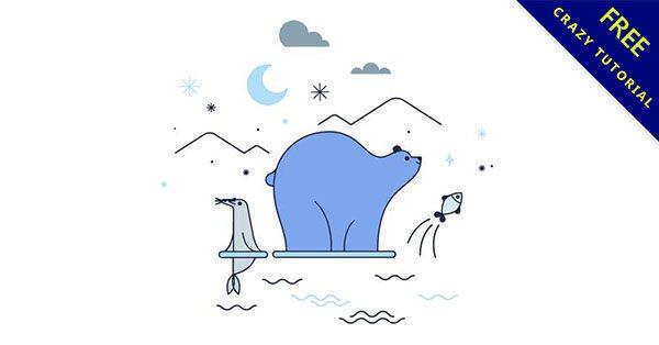【北極熊卡通圖】美編必備的14個可愛的北極熊卡通圖下載