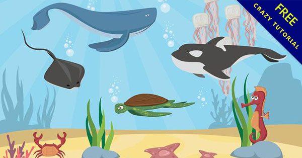 【海洋生物卡通】美編必備的19個可愛的卡通海洋生物下載