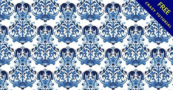 【青花瓷圖案】美編必備的20個類似的青花瓷圖案素材下載
