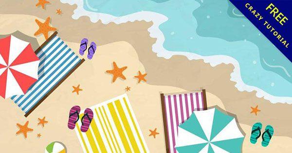 【沙灘素材】美編都在找的16套卡通的沙灘素材下載