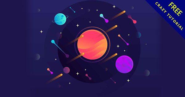 【宇宙素材】美編都需要的17套卡通的宇宙素材下載