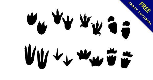 【動物腳印】美編都需要的28套優質的動物腳印下載