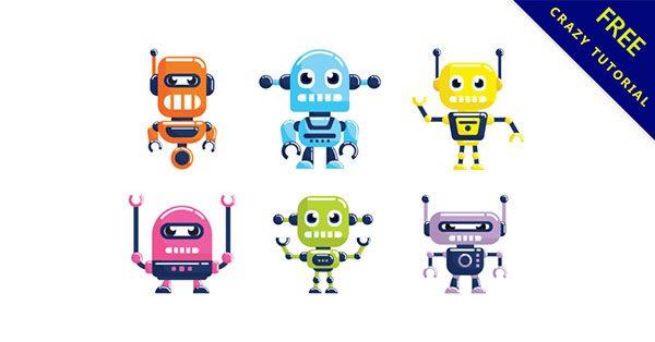 【機器人q版】設計人必用的18個可愛的q版機器人下載