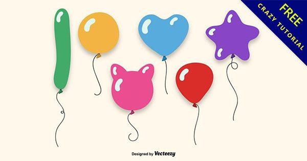 【氣球卡通圖案】14款可愛的氣球卡通圖案下載